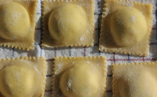 Feta & Ricotta Ravioli with Anari Cheese
