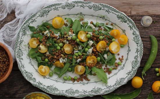 Cyprus Vetch (Louvana) Salad with A Sweet Vinaigrette