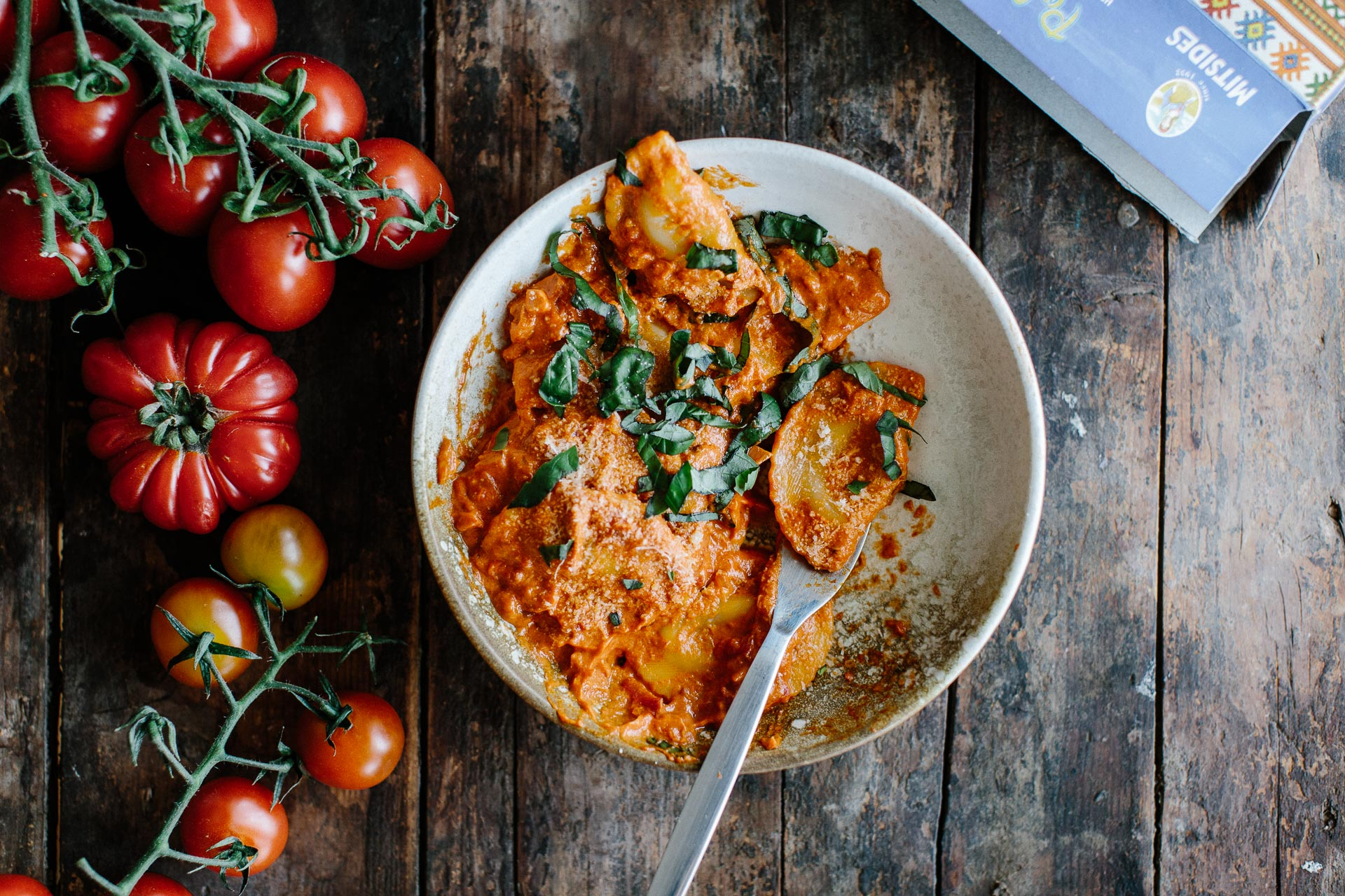 Traditional Cypriot Halloumi Ravioli with Creamy Tomato Sauce