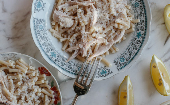 Traditional Cypriot Pasta with Boiled Chicken & Lemon