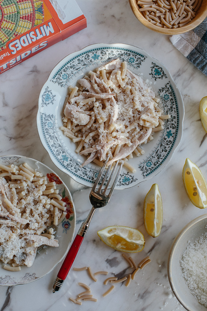 Pasta With Boiled Chicken-4649
