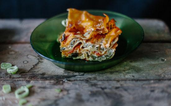 Spinach & Leek Lasagne
