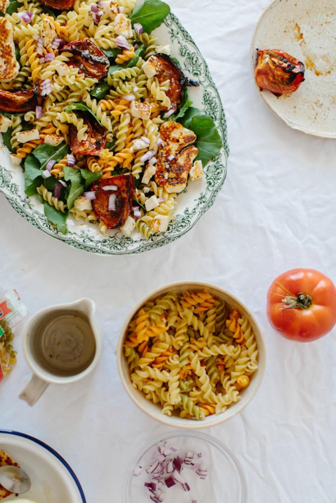 Mitsides Tricolore Pasta Salad Afrodite's Kitchen-7035