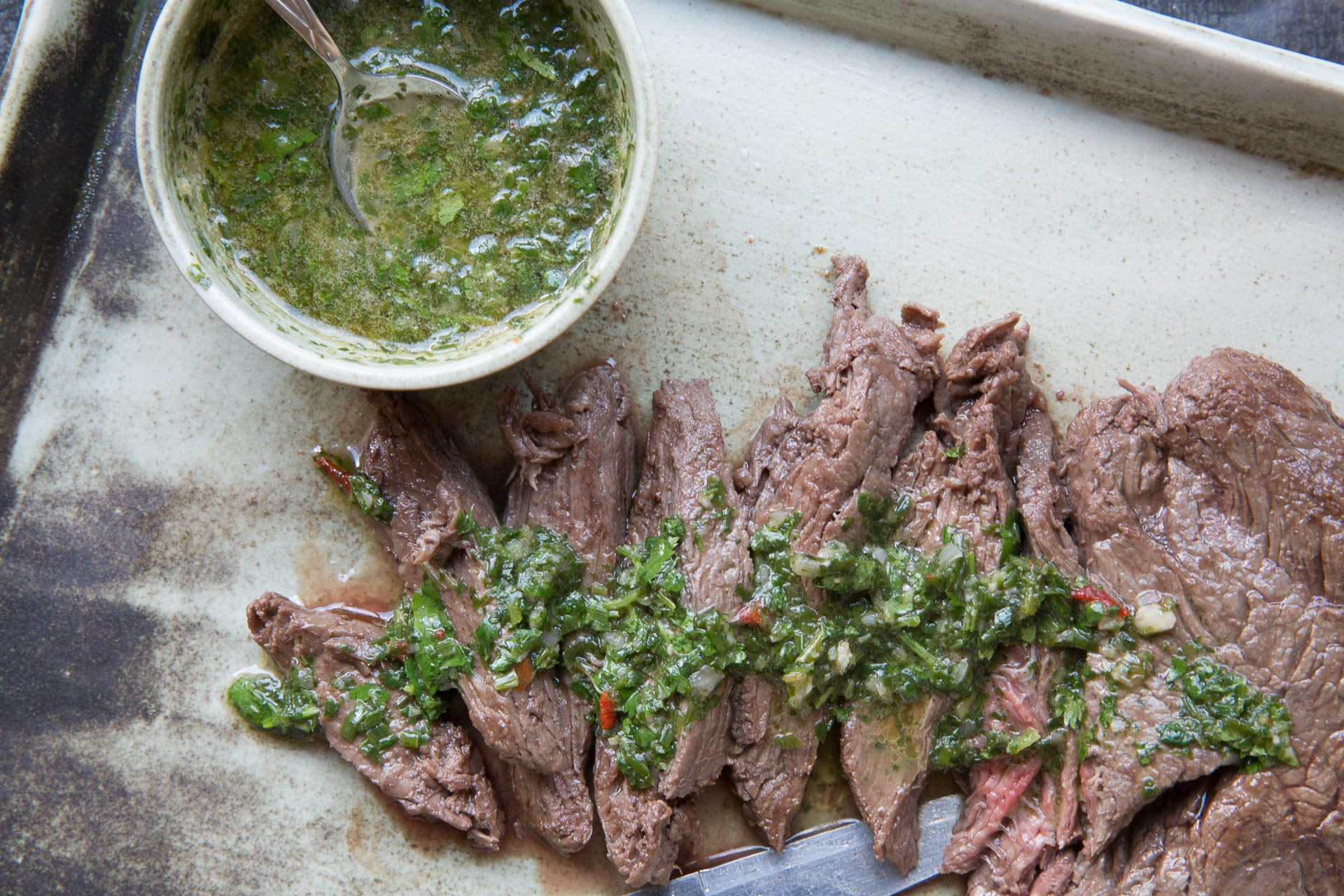 Steaks with Chimichurri Sauce