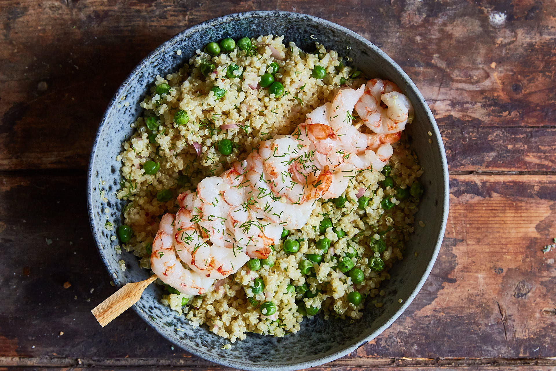 Shrimp Quinoa with Lemon & Dill Dressing